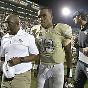 ORLANDO, FL - OCTOBER 09:  Justin Holman #13 of the UCF Knights is seen after the game at Bright House Networks Stadium on October 9, 2014 in Orlando, Florida. (Photo by Alex Menendez/Getty Images) *** Local Caption *** Justin Holman