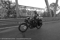 The oldest MCR rider on the earliest bike - Victor Boocock riding his 1914 Harley-Davidson during Stage 16 (142 miles) of the Motorcycle Cannonball Cross-Country Endurance Run, which on this day ran from Yakima to Tacoma, WA, USA. Sunday, September 21, 2014.  Photography ©2014 Michael Lichter.
