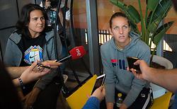 May 3, 2019 - Madrid, MADRID, SPAIN - Karolina Pliskova of the Czech Republic & Conchita Martinez during All Access Hour at the 2019 Mutua Madrid Open WTA Premier Mandatory tennis tournament (Credit Image: © AFP7 via ZUMA Wire)