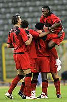 Fotball<br /> Landskamp 17.08.2005<br /> Belgia v Hellas<br /> Foto: PhotoNews/Digitalsport<br /> NORWAY ONLY<br /> <br /> JOIE RED DEVILS - EMILE MPENZA