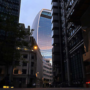 Walkie Talkie Building shot on iPhone 6 on evening bike ride. <br /> <br /> This building features many times on my ride..and why not...its all about light..