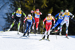 February 21, 2019 - Seefeld In Tirol, AUSTRIA - 190221 Kristine StavÅ's Skistad of Norway and Stina Nilsson of Sweden competes in womenÃ•s cross-country skiing sprint quarter final during the FIS Nordic World Ski Championships on February 21, 2019 in Seefeld in Tirol..Photo: Vegard Wivestad GrÂ¿tt / BILDBYRN / kod VG / 170285 (Credit Image: © Vegard Wivestad Gr¯Tt/Bildbyran via ZUMA Press)
