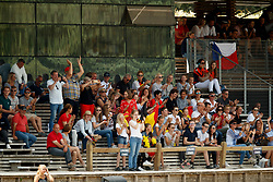 Hazebroek Mathias, BEL, Jurre, Belgium supporters<br /> European Championship Children, Juniors, Young Riders - Fontainebleau 1028<br /> © Hippo Foto - Dirk Caremans<br /> Hazebroek Mathias, BEL, Jurre, Belgium supporters