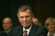 Tom Daschle testifies at his confirmation hearing to be the Secretary of the Departmemnt of Health and Human Services on January 8, 2009.  Photograph by Dennis Brack