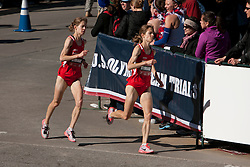 Tara and Kara Storage in homestretch of women's marathon