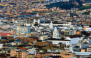 Historic Colonial Center and hillside neighborhoods of Quito, Ecuador, a UNESCO World Heritage Cultural Site.