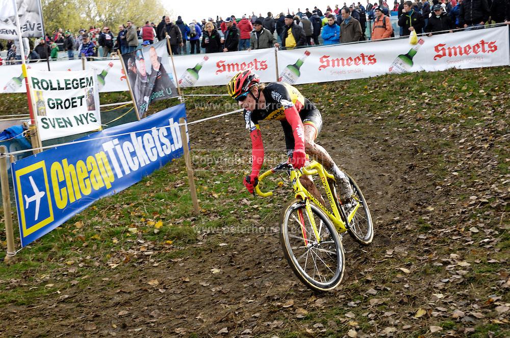 Friday 1st November 2013: Yannick Peeters during the Koppenbergcross 2013 Junior race. Copyright 2013 Peter Horrell