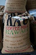 Ka'u Coffee Mill, in the district of Ka'u on the Big Island of Hawaii, USA, America