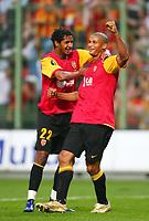 Fotball<br /> Frankrike<br /> Foto: Dppi/Digitalsport<br /> NORWAY ONLY<br /> <br /> FOOTBALL - UEFA CUP 2006/2007 - 1ST ROUND - 2ND LEG - RC LENS v ETHNIKOS ACHNAS - 28/09/2006<br /> <br /> JOY DANIEL COUSIN / ISSAM JEMAA (LENS)