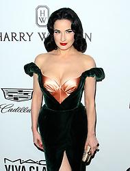 13 October 2017 - Beverly Hills, California - Dita Von Teese. 2017 amfAR Gala Los Angeles held at Green Acres Estate in Beverly Hills. Photo Credit: AdMedia