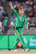 Adam Zampa of the Melbourne Stars appeals for a stumping during the Melbourne Renegades vs Melbourne Stars Twenty20 Big Bash League match at Marvel Stadium, Melbourne, Australia on 20 January 2021.