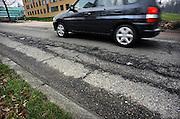 Nederland, Nijmegen, 28-2-2009Slecht wegdek vanwege vorstschade op de Heyendaalseweg Foto: Flip Franssen/Hollandse Hoogte