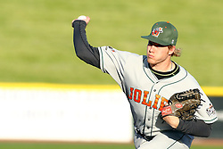 14 May 2016:  Slammers Kaleb Ort during a Frontier League Baseball game between the Joliet Slammers and the Normal CornBelters at Corn Crib Stadium on the campus of Heartland Community College in Normal Illinois