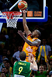 Bo McCalebb of Macedonia during basketball game between National basketball teams of F.Y.R. of Macedonia and Lithuania at Quarterfinals of FIBA Europe Eurobasket Lithuania 2011, on September 14, 2011, in Arena Zalgirio, Kaunas, Lithuania. (Photo by Vid Ponikvar / Sportida)