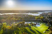 Aerial View of Back Bay From Newport Beach Country Club