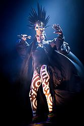 Grace Jones performs live at Bestival 2018 Lulworth Castle - Wareham. Picture date: Saturday 4th August 2018. Photo credit should read: David Jensen/EMPICS Entertainment