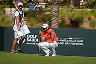 Victor Dubuisson (FRA) on the 9th during Round 4 of the Saudi International at the Royal Greens Golf and Country Club, King Abdullah Economic City, Saudi Arabia. 02/02/2020<br /> Picture: Golffile   Thos Caffrey<br /> <br /> <br /> All photo usage must carry mandatory copyright credit (© Golffile   Thos Caffrey)