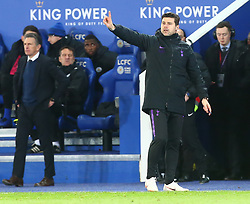 December 8, 2018 - Leicester, England, United Kingdom - Leicester, December 08, 2018.Tottenham Hotspur manager Mauricio Pochettino .during the English Premier League match between Leicester City and Tottenham Hotspur at the King Power Stadium in Leicester, Britain, 8 December 2018  (Credit Image: © Action Foto Sport/NurPhoto via ZUMA Press)