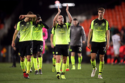 Celtic's Scott Brown applauds the fans after the match