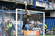 Leeds United Goalkeeper Bailey Peacock-Farrell (1) warms-up ahead of the The FA Cup match between Queens Park Rangers and Leeds United at the Loftus Road Stadium, London, England on 6 January 2019.
