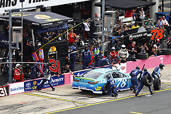 September 30, 2018 - Concord, North Carolina, United States of America - Martin Truex, Jr (78) brings his car down pit road for service during the Bank of America ROVAL 400 at Charlotte Motor Speedway in Concord, North Carolina. (Credit Image: © Chris Owens Asp Inc/ASP via ZUMA Wire)