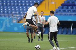 June 22, 2018 - EUM20180622DEP09.JPG.ROSTOV, Rusia, SoccerFutbol-Mundial.- 22 de junio de 2018. Sesión de entrenamiento de la Selección Mexicana de futbol en el Estadio Rostov Arena, previo al partido que tendrán ante su similar de Corea del Sur este sábado, como parte de las actividades de fase de grupos del Mundial de Rusia. Foto: Agencia EL UNIVERSALLuis CortésMAR. (Credit Image: © El Universal via ZUMA Wire)