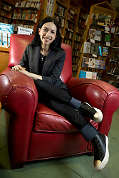 """Elissa Shevinsky, author of """"Lean Out: The Struggle for Gender Equality in Tech and Start-up Culture,"""" poses for a photograph at Diesel Bookstore in Oakland, Calif., Tuesday, Sept. 22, 2015. (D. Ross Cameron/Bay Area News Group)"""