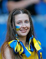 Photo: Glyn Thomas.<br />Italy v Ukraine. Quarter Finals, FIFA World Cup 2006. 30/06/2006.<br /> A female Ukraine fan.