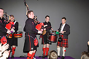 The Red Hot Chili Pipers with Ewan McGregor, Not Another Burns night.  Fundraising gala in aid of Clic Sargent and Children's Hospice Association Scotland (CHAS)St. Martin's Lane Hotel.  Monday 3rd March *** Local Caption *** -DO NOT ARCHIVE-© Copyright Photograph by Dafydd Jones. 248 Clapham Rd. London SW9 0PZ. Tel 0207 820 0771. www.dafjones.com.