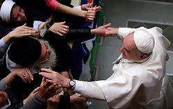 March 22,  2019  - Vatican City, Holy See - POPE FRANCIS during the audience to youth Tourist Center in Aula Paolo VI at the Vatican.  Credit Image: ©Evandro Inetti via ZUMA Wire) (Credit Image: © Evandro Inetti/ZUMA Wire)