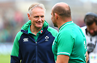 Rugby Union - 2019 pre-Rugby World Cup warm-up (Guinness Summer Series) - Ireland vs. Wales<br /> <br /> Ireland's Head Coach, Joe Schmidt, shares a moment with Rory Best (c) (Ireland) at the end of the game at The Aviva Stadium.<br /> <br /> COLORSPORT/KEN SUTTON