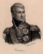 Jean Lannes, Duc de Montebello (1769-1809) one of Napoleon's generals. Won  the battle of Montebello (1800). Also fought at Marengo, Austerlitz, Eylau,  Friedland, and Saragossa. Mortally wounded at Aspern and Esslung.  Napoleonic Wars. Lithograph c1830