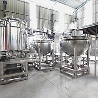 Ointement mixing plant, manufacturing plant, photography, industrial photography, art,