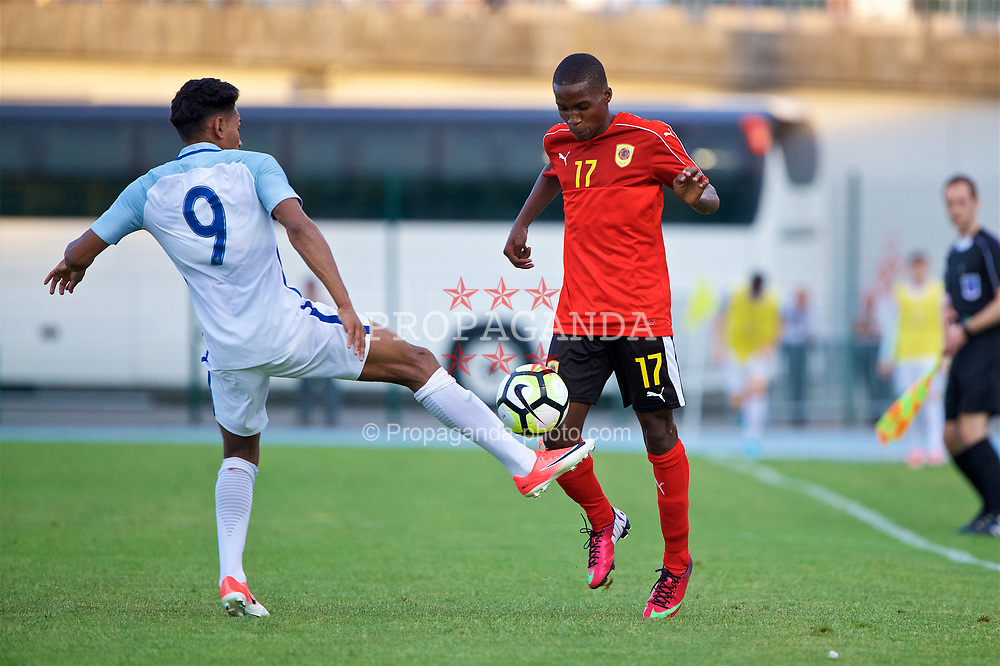 AUBAGNE, FRANCE - Monday, May 29, 2017: Angola's Felicio Mendes Joao Milson during the Toulon Tournament Group A match between England U18 and Angola U20 at the Stade de Lattre-de-Tassigny. (Pic by David Rawcliffe/Propaganda)
