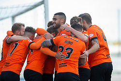Dundee United's Pavol Safranko (14) celebrates after scoring their first goal. Falkirk 0 v 2 Dundee United, Scottish Championship game played 22/9/2018 at The Falkirk Stadium.