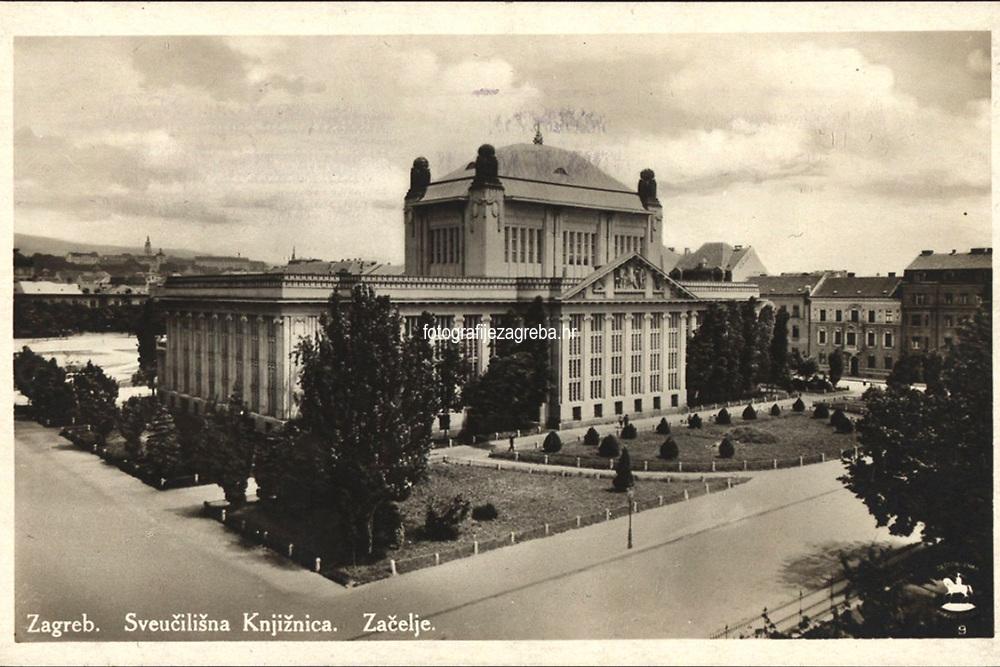 Zagreb : Sveučilišna knjižnica. Začelje. <br /> <br /> ImpresumS. l. : S. n., [1929?].<br /> Materijalni opis1 razglednica : tisak ; 8,9 x 14 cm.<br /> Vrstavizualna građa • razglednice<br /> ZbirkaZbirka razglednica • Grafička zbirka NSK<br /> ProjektPozdrav iz Hrvatske • Pozdrav iz Zagreba<br /> Formatimage/jpeg<br /> PredmetZagreb –– Trg Marka Marulića<br /> Nacionalna i sveučilišna knjižnica (Zagreb)<br /> Jezikhrvatski<br /> SignaturaRZG-MAR-5<br /> Obuhvat(vremenski)20. stoljeće<br /> NapomenaRazglednica je putovala 1929. godine.<br /> PravaJavno dobro<br /> Identifikatori000952792<br /> NBN.HRNBN: urn:nbn:hr:238:649537 <br /> <br /> Izvor: Digitalne zbirke Nacionalne i sveučilišne knjižnice u Zagrebu