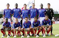 Fotball<br /> UEFA U17 Championships<br /> 04.05.2007<br /> Frankrike<br /> Foto: Imago/Digitalsport<br /> NORWAY ONLY<br /> <br /> Mannschaftsbild Frankreich U17, hi.v.li.: Omar Benzerga, Alfred N Diaye, Mathieu Saunier, Damien Le Tallec, Mamadou Sakho, Torwart Mathieu Gorgelin, vorn: Henri Saivet, Thibault Bourgeois, Nicolas Seguin - Yann M Vila und Abdel El Kaoutari<br /> <br /> Lagbilde Frankrike