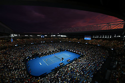 January 26, 2019 - Melbourne, AUSTRALIA - Sunset during Naomi Osaka defeated Petra Kvitova in Australian open Final (Credit Image: © Panoramic via ZUMA Press)