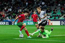 LJUBLJANA, SLOVENIA - JUNE 06:  Vitinha of Portugal vs Finn Dahmen of Germany and Arne Maier of Germany during the 2021 UEFA European Under-21 Championship Final match between Germany and Portugal at Stadion Stozice on June 06, 2021 in Ljubljana, Slovenia. Photo by Grega Valancic / Sportida