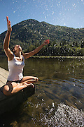 Relaxing and Yoga at Deer Lake, Harrison Hot Springs, B.C. Canada