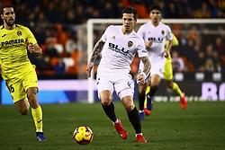 January 26, 2019 - Valencia, Spain - Santi Mina of Valencia CF   during  spanish La Liga match between Valencia CF vs Villarreal CF at Mestalla Stadium on Jaunary  26, 2019. (Credit Image: © Jose Miguel Fernandez/NurPhoto via ZUMA Press)