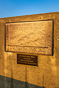 Interpretive plaque on the Donner Summit Bridge, Truckee, California USA
