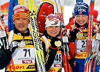 ◊Copyright:<br />GEPA pictures<br />◊Photographer:<br />Mario Kneisl<br />◊Name:<br />Henkel<br />◊Rubric:<br />Sport<br />◊Type:<br />Biathlon<br />◊Event:<br />IBU WM 2005, 15 km Einzel, Damen<br />◊Site:<br />Hochfilzen, Austria<br />◊Date:<br />08.03.05<br />◊Description:<br />Ribo Sun (CHN), Andrea Henkel (GER), Linda Tjoerhom (NOR), Medaille<br />◊Archive:<br />DCSKN-0803054304<br />◊RegDate:<br />08.03.2005<br />◊Note:<br />8 MB - KA/DM - Nutzungshinweis: Es gelten unsere Allgemeinen Geschaeftsbedingungen (AGB) bzw. Sondervereinbarungen in schriftlicher Form. Die AGB finden Sie auf www.GEPA-pictures.com.<br />Use of picture only according to written agreements or to our business terms as shown on our website www.GEPA-pictures.com.