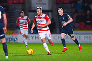 Herbie Kane of Doncaster Rovers (15) gets past Sam Mantom of Southend United (18) during the EFL Sky Bet League 1 match between Doncaster Rovers and Southend United at the Keepmoat Stadium, Doncaster, England on 12 February 2019.