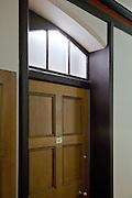 Detail of refurbished corridor showing light feature above doors