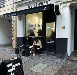 Exterior of Five Elephant cafe in Mitte, Berlin, Germany