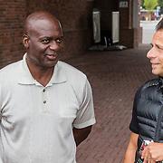 NLD/Amsterdam/20160813 - Boekpresentatie en clinic oud atleet Ben Johnson Overhandigd door Marcus Turner,