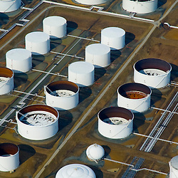 Aerial view of Oil storage tanks  Delaware City Refinery