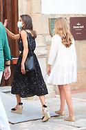 Queen Letizia of Spain, Princess Sofia arrive to National Inn on July 22, 2020 in Merida, Spain