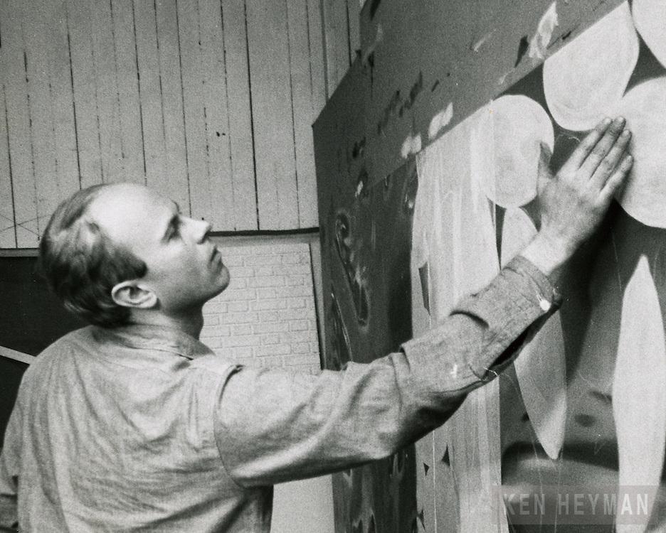 James Rosenquist in his studio.